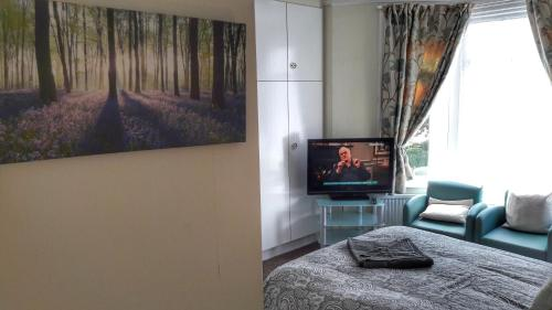 A television and/or entertainment centre at Kirk Lea Guest House
