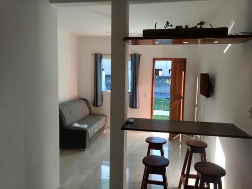 A seating area at Residencial Mar Da Galileia