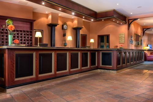 The lobby or reception area at SORAT Hotel Brandenburg