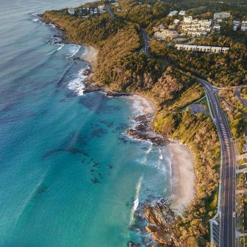 A bird's-eye view of The Point Coolum