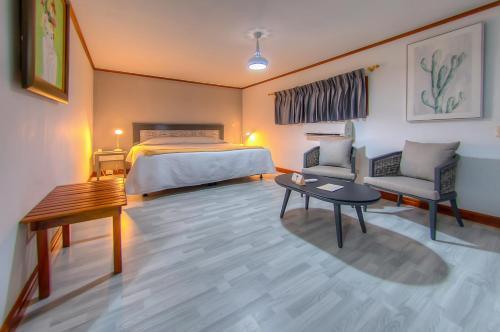 Cama o camas de una habitación en La Casa de Marita