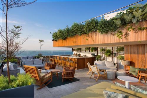 Um restaurante ou outro lugar para comer em Hilton Copacabana Rio de Janeiro