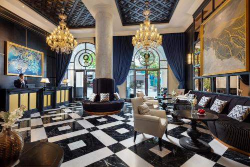 The lobby or reception area at Aira Boutique Hanoi Hotel & Spa