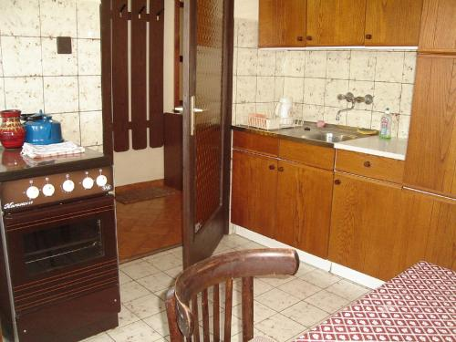 A bathroom at Lilla Apartmanház