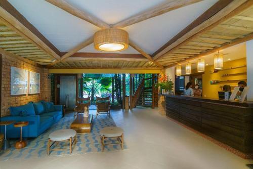 The lobby or reception area at Hotel Via dos Corais