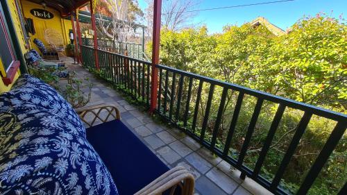 A balcony or terrace at No14 Lovel St hostel