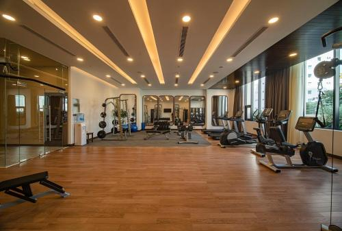 The fitness centre and/or fitness facilities at Potique Hotel