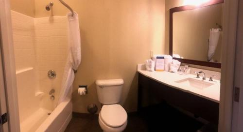 A bathroom at Comfort Inn & Suites Ukiah Mendicino County