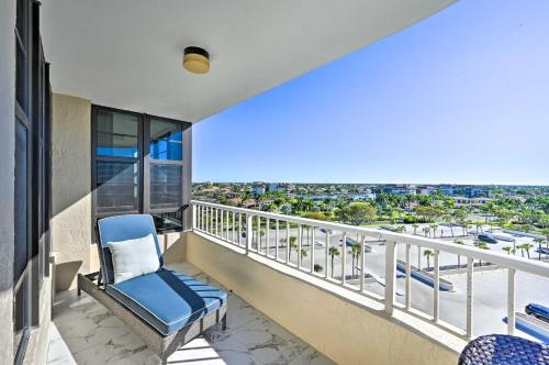 A balcony or terrace at Resort Condo with Balcony and Stunning Ocean Views!
