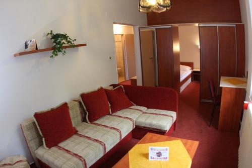 Гостиная зона в Hotel Skicentrum