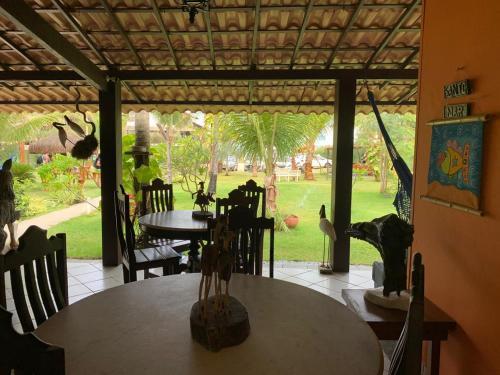 Um restaurante ou outro lugar para comer em Pousada Maraoka