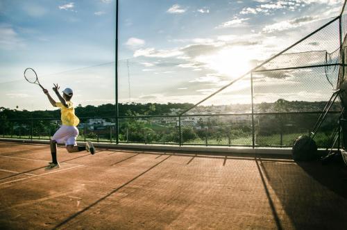 Tennis eller squash på eller i nærheten av Lydia Maris Resort & Spa