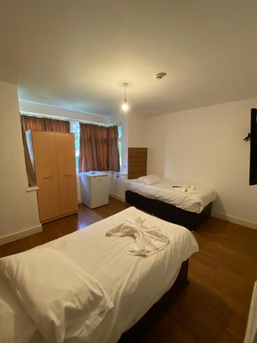 A bed or beds in a room at HS2 Contractors Accommodation