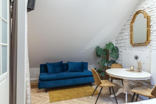 Svetainės erdvė apgyvendinimo įstaigoje Apartments Satva