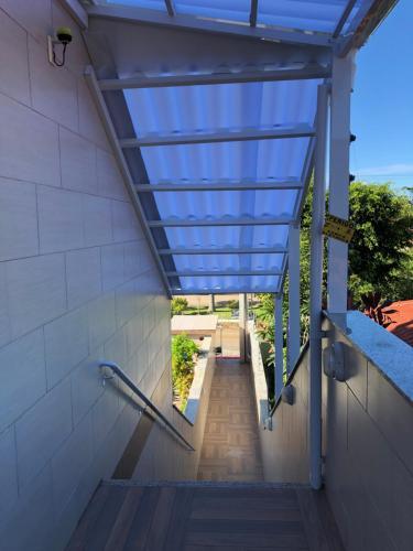 Uma varanda ou terraço em Apartamentos do Mar