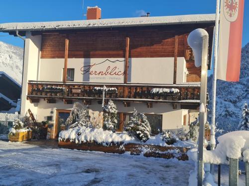 Gästehaus Fernblick during the winter