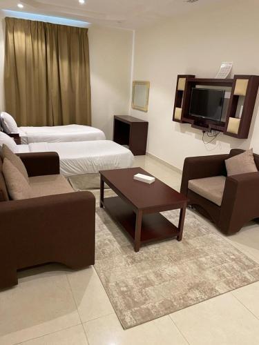 Uma área de estar em Masaken Alyasmin