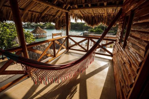 A balcony or terrace at Hotel Isla del Sol