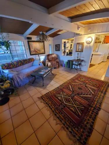 The lobby or reception area at Cozy Sedona Cottage with Private Creek Access