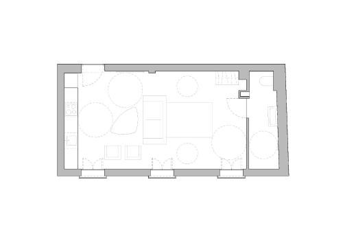 The floor plan of Homesuitehome Cordoba