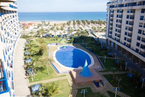 A view of the pool at Patacona Resort Apartments or nearby
