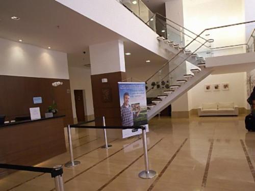 The lobby or reception area at Duplex Apto Setor Hoteleiro Norte