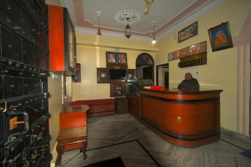 El vestíbulo o zona de recepción de Kanhaia Haveli