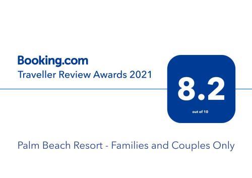 Een certificaat, prijs of ander document dat getoond wordt bij Palm Beach Resort - Families and Couples Only