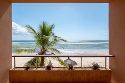 A balcony or terrace at Kirimizi Hotel & Restaurante