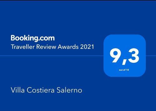 Un certificat, premiu, logo sau alt document afișat la Villa Costiera Salerno