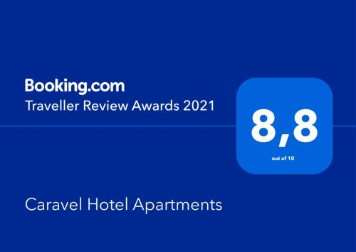 Certyfikat, podpis lub inny dokument wystawiony w obiekcie Caravel Hotel Apartments