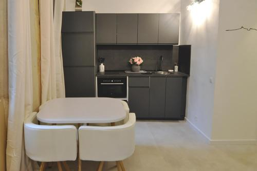 A kitchen or kitchenette at Modern studio close to the Vieux Port