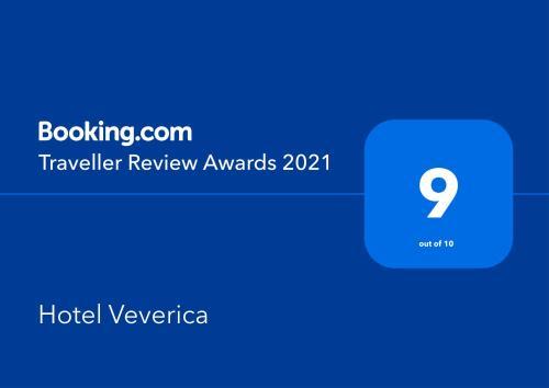 Certifikát, ocenenie alebo iný dokument vystavený v ubytovaní Hotel Veverica