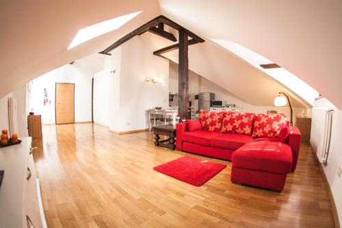 A seating area at Apartments Villa Anita