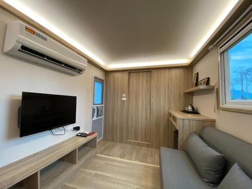 A television and/or entertainment center at Young Stay