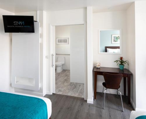 A television and/or entertainment center at Santa Monica Motel