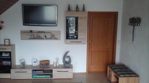 Küche/Küchenzeile in der Unterkunft Ferienwohnung Steigerwaldblick
