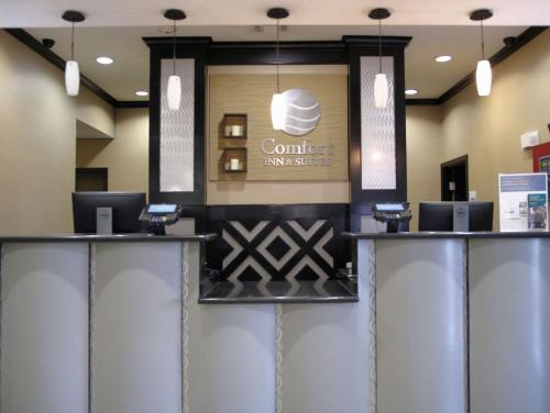 The lobby or reception area at Comfort Inn & Suites Dallas Medical-Market Center