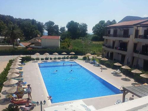 A view of the pool at Vouni King Hotel or nearby