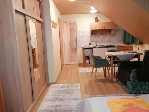 Kuchyň nebo kuchyňský kout v ubytování Ilona Ház