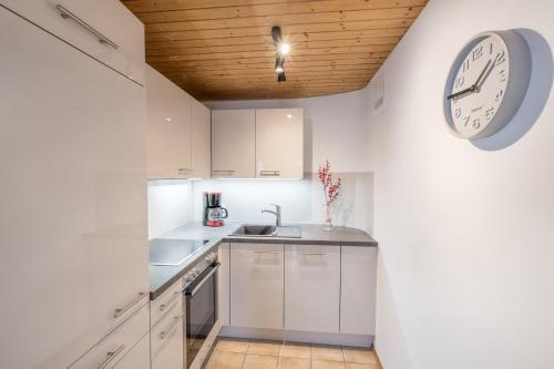 Küche/Küchenzeile in der Unterkunft Ferienwohnung Bacco