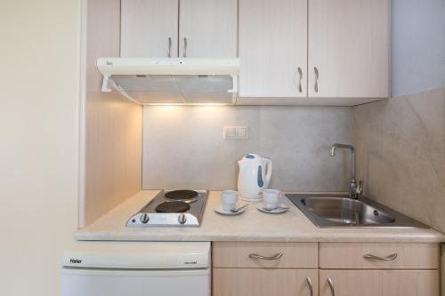 Η κουζίνα ή μικρή κουζίνα στο Bella Studios