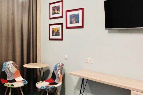 Телевизор и/или развлекательный центр в Бутик отель Печора