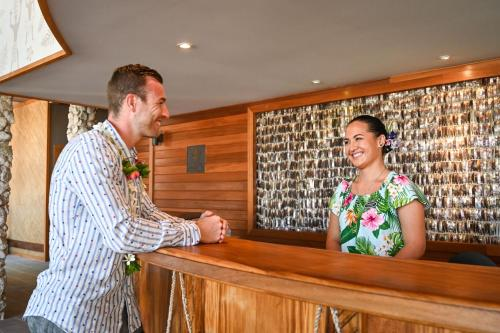 O saguão ou recepção de Le Bora Bora by Pearl Resorts