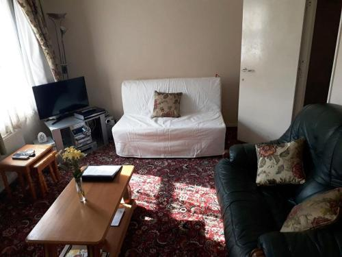 A seating area at North London home away from home