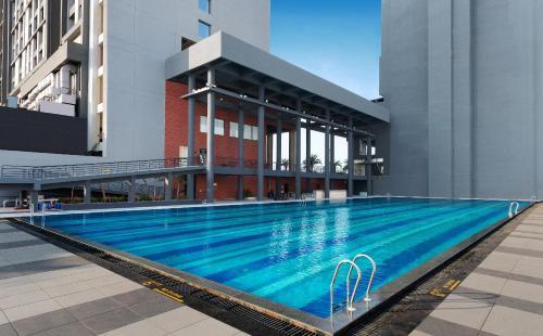 The swimming pool at or near Wyndham Ahmedabad Shela