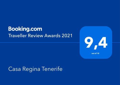 Certificato, attestato, insegna o altro documento esposto da Casa Regina Tenerife