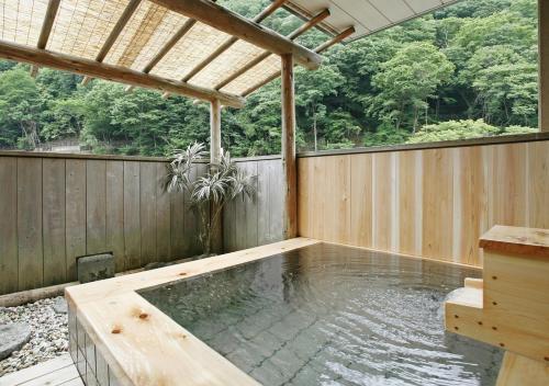 The swimming pool at or near Kisoji no Yado Iwaya