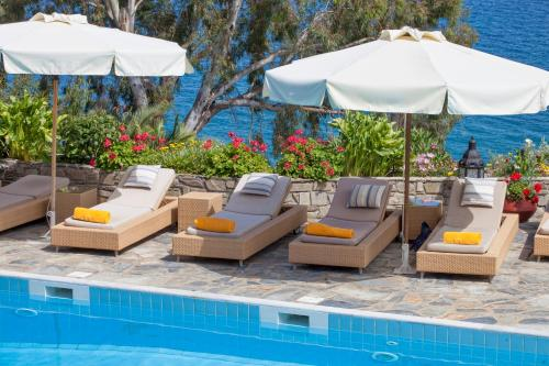 The swimming pool at or near Aegean Suites Hotel