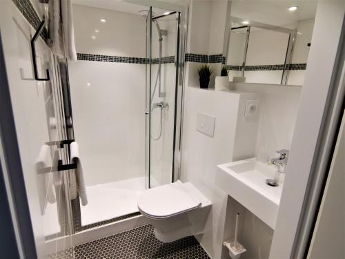 Salle de bains dans l'établissement Hotel Les Montagnards